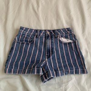Pacsun Striped Mom Shorts